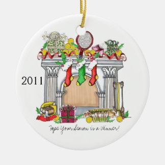 Rond Ornament, de Afdekplaat van het Tennis, 2011 Rond Keramisch Ornament
