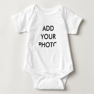 RONDE Foto Gepersonaliseerde Bodysuit van het Baby Tshirts
