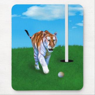 Rondsnuffelend Klantgerichte Tijger en Golfbal Muismatten