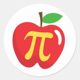 Rood appeltaartpi symbool ronde sticker