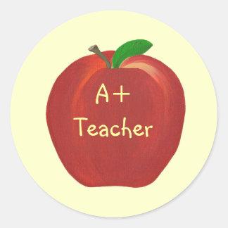 Rood Apple, A+ De stickers van de leraar