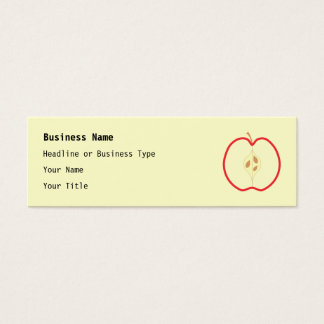 Rood Apple Half, op roomachtergrond Mini Visitekaartjes