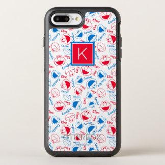 Rood & Blauw Patroon | Monogram OtterBox Symmetry iPhone 8 Plus / 7 Plus Hoesje
