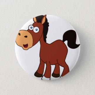 rood cartoonpaard ronde button 5,7 cm