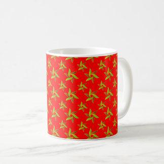 Rood Decoratief geometrisch patroon Koffiemok