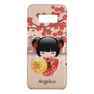 Rood Doll van Sakura Kokeshi - Japanse Geisha Case-Mate Samsung Galaxy S8 Hoesje