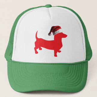 Rood-Doxie---En-kerstman-pet Trucker Pet