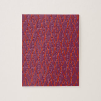 Rood elegant patroon puzzel