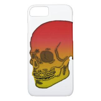 Rood en gele schedel iPhone 8/7 hoesje