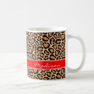 Rood en het Monogram van de Douane van de Druk van Koffiemok