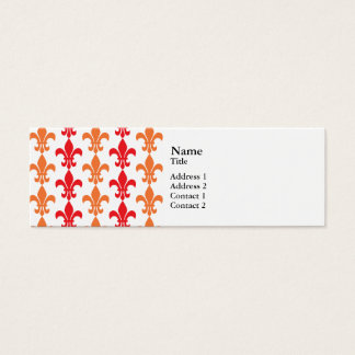 Rood en Orange Fleur DE Lis Pattern Mini Visitekaartjes