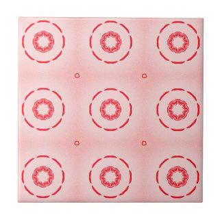 Rood en Roze Geometrisch Ontwerp Tegeltje