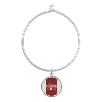 Rood en Wit ben Mijn Hart van Valentijn Bangle Armbandje