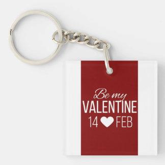Rood en Wit ben Mijn Hart van Valentijn Sleutelhanger