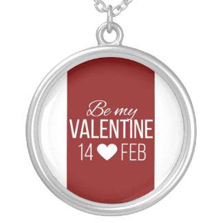 Rood en Wit ben Mijn Hart van Valentijn Zilver Vergulden Ketting