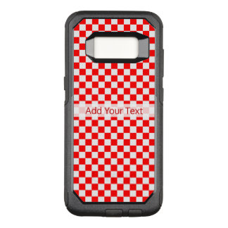Rood en Wit Klassiek Schaakbord door STaylor OtterBox Commuter Samsung Galaxy S8 Hoesje