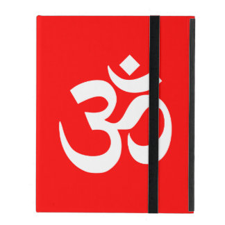 Rood en Wit Om Symbool iPad Covers