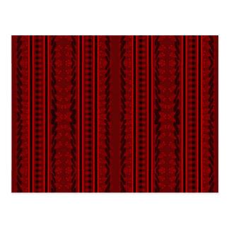 Rood en zwarte briefkaart