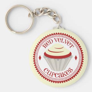 Rood Fluweel Cupcake Keychain Sleutel Hanger