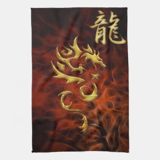 Rood Fractal Jaar van de Aziatische Handdoek van d