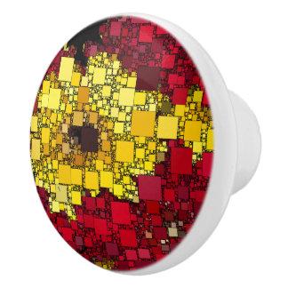 Rood, Geel, en Schaduwen van Gouden MiniDozen Keramische Knop