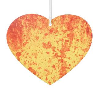 Rood-geel-oranje hete lavauitbarsting van krater auto luchtverfrissers