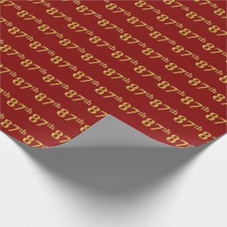 Rood, Gouden 87ste (tachtig-Zevende) Gebeurtenis Inpakpapier