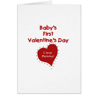 Rood Hart I de Eerste Valentijnsdag van de Mama Briefkaarten 0