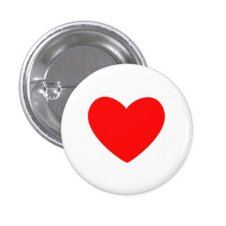 Rood Hart Ronde Button 3,2 Cm