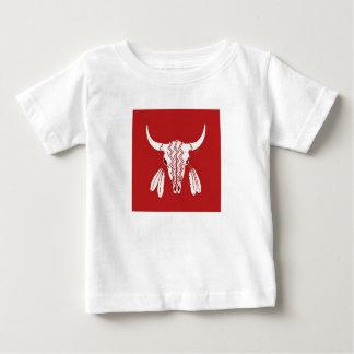 Rood het babyoverhemd van de Buffels van de Dans Baby T Shirts