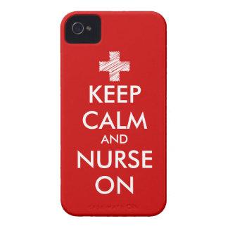 Rood houd Rust en verpleegster op iPhone 4 hoesje