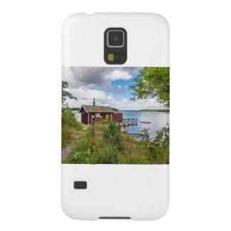Rood houten plattelandshuisje in Zweden Galaxy S5 Hoesje