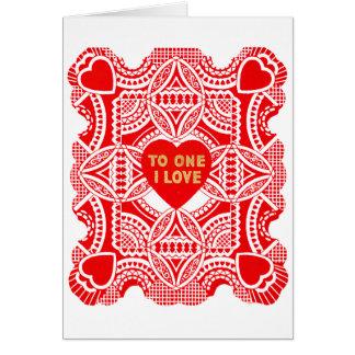 Rood Kant Valentijn Kaart