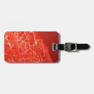 Rood Koraal Bagagelabel