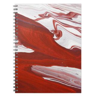 Rood Lint Ringband Notitieboek