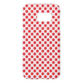 Rood op Witte Stip Samsung Galaxy S7 Hoesje