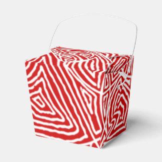 Rood Patroon Scribbleprints Bedankdoosjes