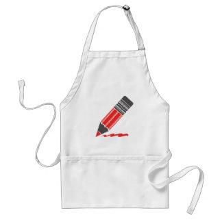 rood potlood standaard schort