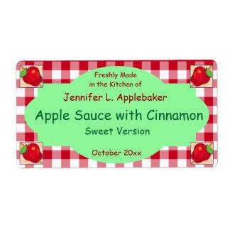 Rood Schaakbord en Apple die het Etiket van de