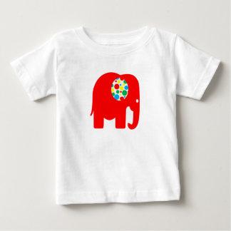 Rood, spotty, niet sexistisch, olifantst-shirt baby t shirts