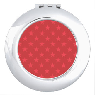 Rood sterrenpatroon makeup spiegeltjes