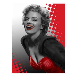 Rood Stip Marilyn Briefkaart