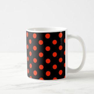 Rood stip met zwarte backgroud - geometrisch koffiemok
