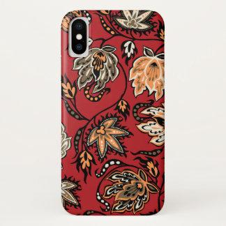 Rood van de Batik van Protea het Hawaiiaanse iPhone X Hoesje