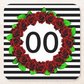Rood van de Verjaardag van vrouwen nam het 30ste Vierkante Onderzetter