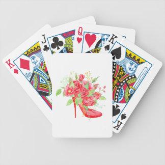 Rood van de waterverf nam Schoen toe Poker Kaarten