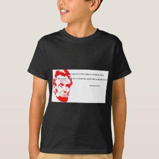 Rood van het Citaat van Abraham Lincoln het T Shirt