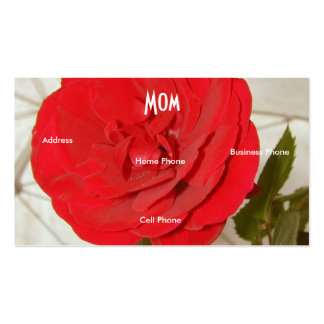 Rood van het mamma nam toe visitekaartjes