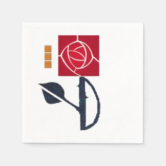 Rood van Macintosh nam de Servetten van het Wegwerp Servet