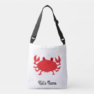 Rood van zeekrab crossbody tas